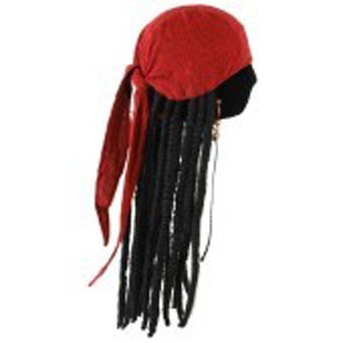 [elope Jack Sparrow Scarf with Dreads] (Dread Wig)