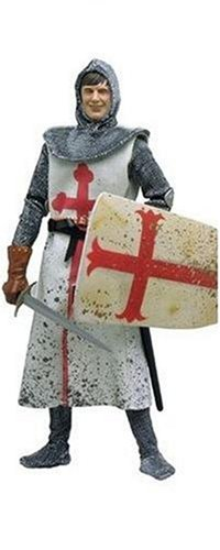 Monty Python Helmet - MICHAEL PALIN AS SIR GALAHAD * The Dirty Knights Collection (Muddy Version) * 12 Inch Monty Python and the Holy Grail 2002 Sideshow Toy Collectible Action Figure