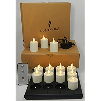 Amazon Com Luminara Rechargeable Flameless Tea Lights