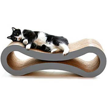 PetFusion Ultimate Cat Scratcher Lounge (Slate Gray). [Superior Cardboard & Construction, significantly outlasts cheaper alternatives]