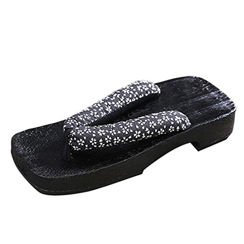 Jiyaru Mens Giapponese Legno Geta Zoccoli Infradito Pantofole Calzature # 2