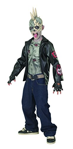 [Rubies Punk Zombie Child Costume, Large, One Color] (Horror Costumes For Kids)