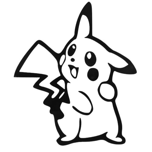 Pictures Of Pikachu Costumes (Pokemon Go Pokemon Pikachu Decal Vinyl Sticker|Cars Trucks Vans Walls Laptop| BLACK |5.5 in|CCI468)