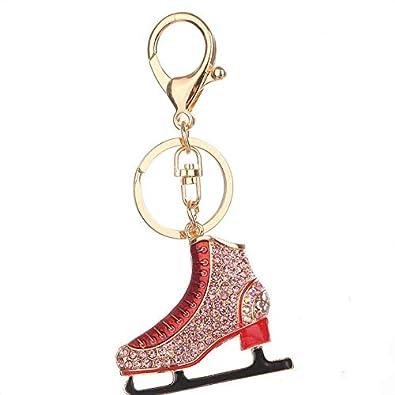 Diamantes de imitación zapatos de patinaje de llaveros ...