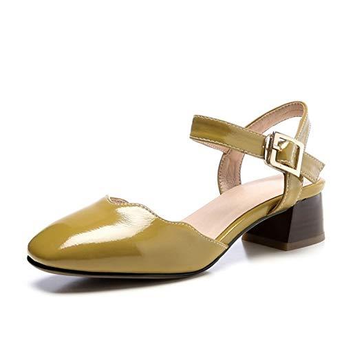 de Heel PU Heels ZHZNVX Primavera Verano y Amarillo Pink Zapatos Comfort Blanco Mujer Rosa Chunky Poliuretano g5WU1fqw