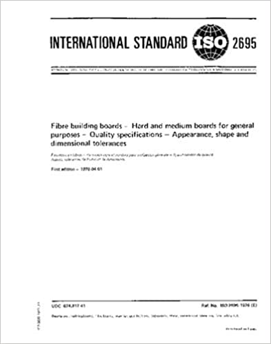 ISO 2695:1976, Fibre building boards -- Hard and medium boards for general purposes -- Quality specifications -- Appearance, shape and dimensional tolerances
