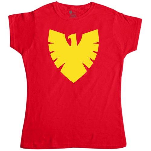 Womens Superhero T Shirt - Phoenix Symbol - Red - Large (12-14) - Phoenix Costume X-men Movie