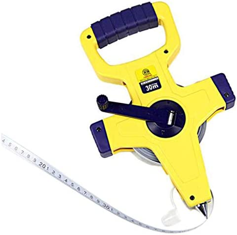 GUONING-L Tool Ruler, Frame Steel Tape Measure Tape 50M*12.5MM Stable Standing (Color : Yellow, Size : 50m) Tape Measure