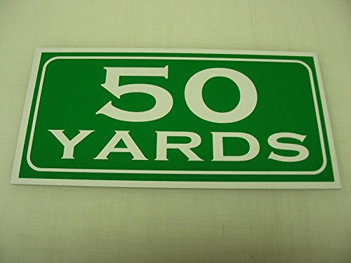 50 YARDS Metal Sign Golf Course Yardage Marker Green Country Club Driving Range