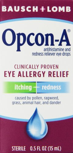 Bausch & Lomb/Opcon-A Eye Drops 15 ml (Pack of 3) (Lomb Eye)