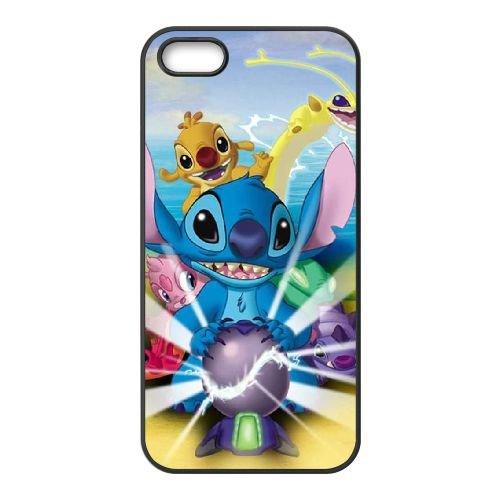 B5B17 Disney Lilo et Stitch R5F2QX coque iPhone 5 5s cellulaire cas de téléphone couvercle coque noire KV8MSP6VK