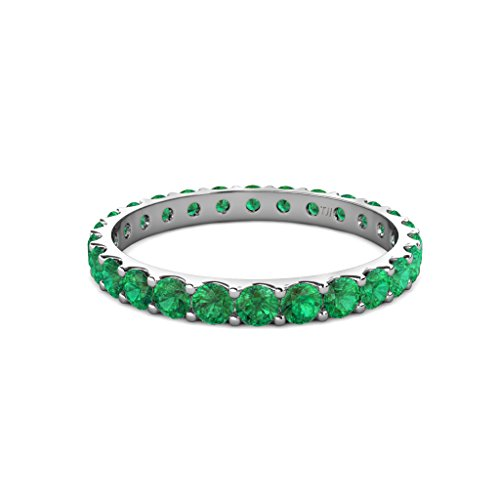 Emerald U Prong Eternity Band 2.00 ct tw to 2.30 ct tw in 18K Gold