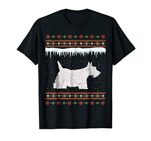 Scottish Terrier Ugly Christmas T-Shirt