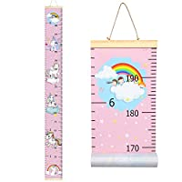 Sylfairy Growth Chart, Kids Wall Ruler Removable Height Measure Chart for Boys Girls Growth Ruler Unicorn Wall Room Decoration 79