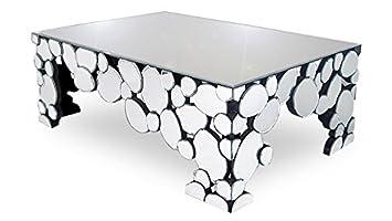 Basse Table Alby Miroirs Multifacettes Mobiliermoss Argent En W29EDYHI