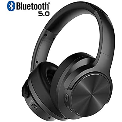 Mackur Active Noise Cancelling Wireless Bluetooth Headphones hours Playtime Bluetooth Headset with Super HiFi Deep Bass  Color Black