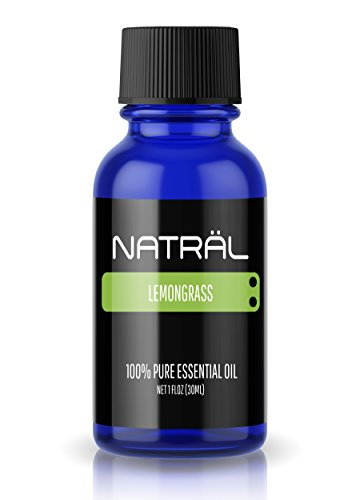 NATRÄL Lemongrass, 100% Pure and Natural Essential Oil, Large 1 Ounce Bottle
