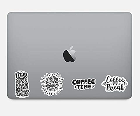 Coffee Quotes Sticker Pack Funny Coffee Stickers - 4 Pack ...