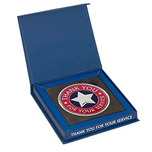 - Large Thank You for Your Service Coin + Display Box by AttaCoin, Veteran Gift Series