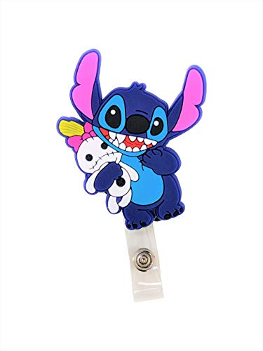 Swivels - Cartoon Retractable Badge Reel - Holder for ID and Name Tag with Alligator Clip (Stitch)