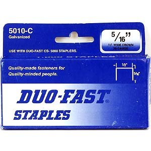 Duo Fast Chisel (Duo Fast CP5010C 20 Gauge Galvanized Staple 1/2-Inch Crown x 5/16-Inch Length, 1000 Pack)