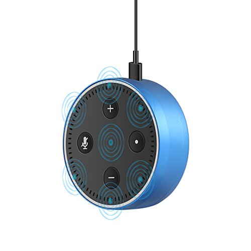 Price comparison product image LANMU Wall Mount Case Holder Protective Cover for Echo Dot 2nd Generation,Alexa Case Stand Mount,Provide Better Protection for Your Amazon Alexa