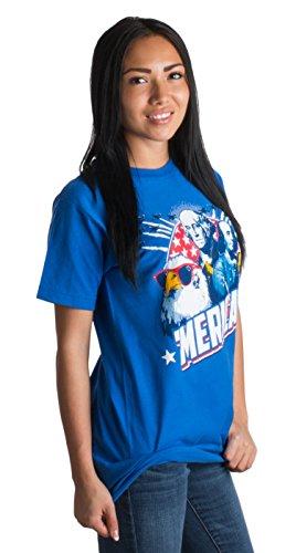 MERICA | Epic USA Patriotic American Party Patriot Unisex T-shirt Men Women-Adult,L Royal Blue