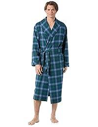 PajamaGram Men's Classic Plaid Flannel Robe