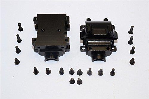 Team Losi Mini 8ight Upgrade Parts Aluminum Rear Gear Box - 2Pcs Set Black ()