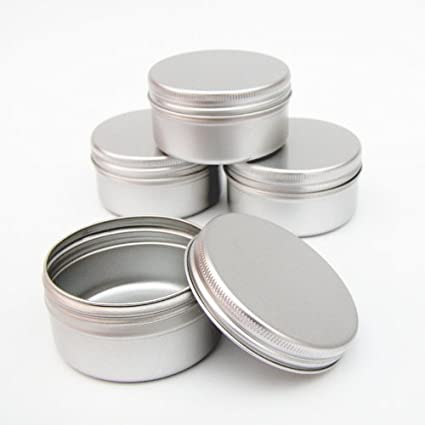 25 x cajas de aluminio para velas 50 ml, cosméticos, manualidades, reserva,