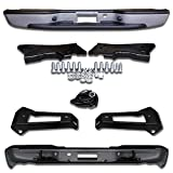 Make Auto Parts Manufacturing Rear Step Bumper Assembly Silver Fleetside With Brackets Light Kit Bolts Bar For Chevrolet Silverado 1999-2006 / GMC Sierra 1500 1999-2006 - Partslink GM1103124