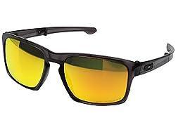 Oakley Men's Mph Sliver F Matte Grey Ink W Fire Iridium Polarized Sunglasses