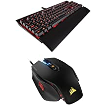 Corsair CH-9101022-NA Gaming K70 Lux Mechanical Keyboard, Backlit Red Led, Cherry MX Brown and Corsair Gaming M65 PRO RGB FPS Gaming Mouse, Backlit RGB LED, 12000 DPI, Optical