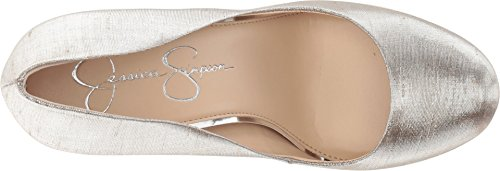 Simpson Pump Women's Jessica Calie Metallic Fabric Shine Shimmer Silver ROqwZ
