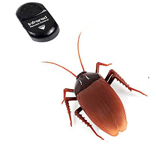 NiGHT LiONS TECH ® Novelty Emulational Remote Control cockroach Animal Toy Funny toy For Christmas (High Tech Toys)