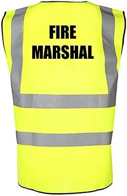 Work Large, Hi Vis Orange Office /& School Safety Vest Fire Warden Printed High Visibility Hi Vis Site