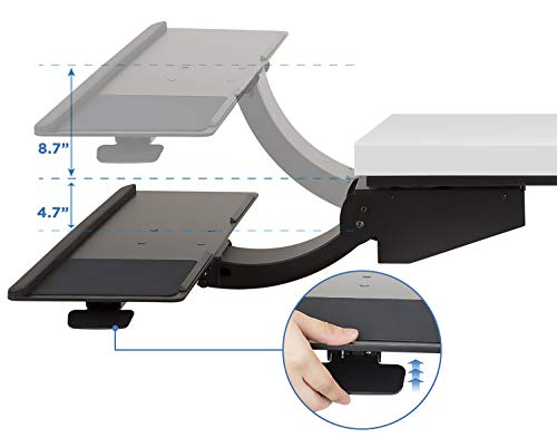 Amazon.com: Mount-It! Sit Stand Keyboard Tray, Height ...