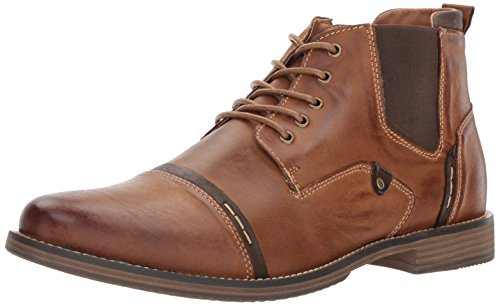 Steve Madden Men's Proxy Ankle Bootie, Tan Leather, 10.5 M US