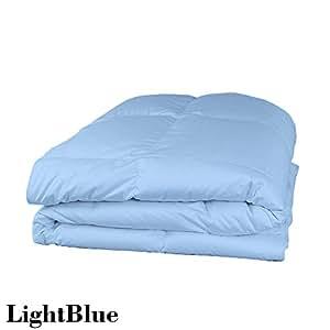 Super suave algodón egipcio de 500hilos 1pieza Edredón 100gsm Euro doble IKEA azul sólido 100% algodón 500tc