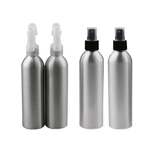 MagiDeal 4pcs Botella de Pulverizador de Aluminio de Niebla de Agua Atomizador 50/100ml