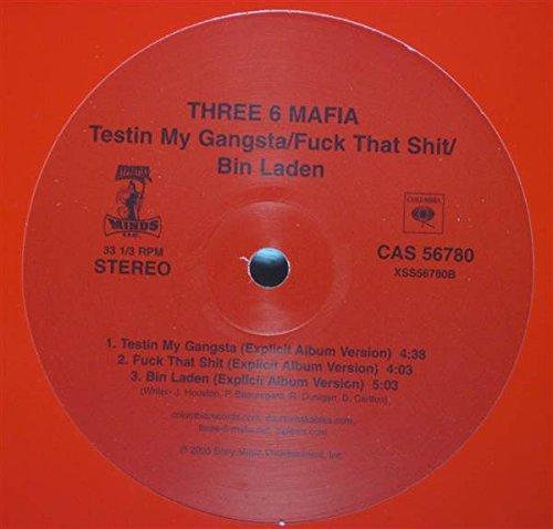 "Price comparison product image Three 6 Mafia: Testin' My Gangsta (2 vers.) / Buck Dat Click (2 vers.) / Bin Laden (2 vers.) [12"" Single]"