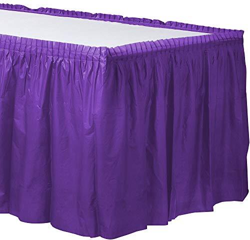 New Purple Plastic Table Skirt   Party Tableware ()
