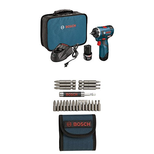 Bosch PS22-02 12-volt Max Brushless Pocket Driver Kit with 2