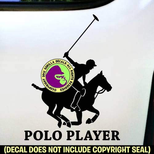 POLO PLAYER Horse Rider Vinyl Decal Sticker A