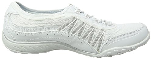 White Femme Point Baskets Silver Taken Skechers Blanc Breathe Easy wRqHnv60
