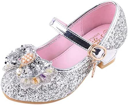 Infant Sandals BOLLH Kids Baby Girls Pearl Crystal Bling Bowknot Single Princess Sequins Ballroom Shoes