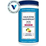 The Vitamin Shoppe Calm Zone Magnesium Mineral Powder, 325mg Raspberry Lemon Relaxation Drink for Muscles, Digestive Bone Support – Natural Flavors for Calm Regularity (8 Ounces Powder)