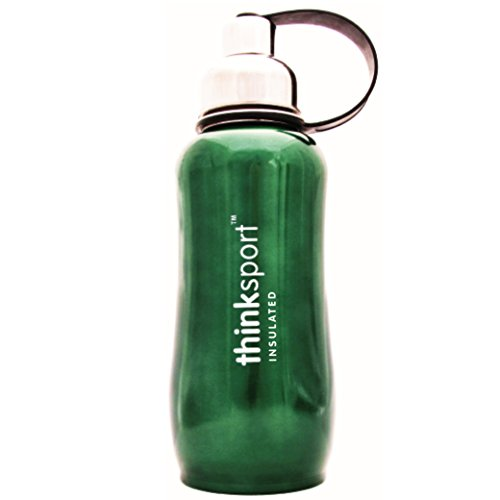 Stainless Steel Sport Bottle (Green, 750ml/25-Ounce) (25 Oz Candle)