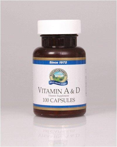Naturessunshine Vitamin A & D 10,000/400 IU 100 softgel caps (Pack of 12)