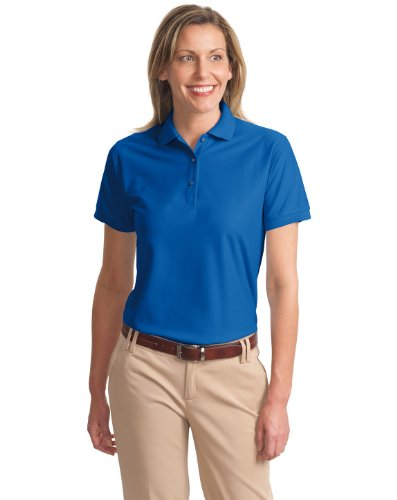 "Port Authority Ladies Silk Touchâ""¢ Polo. L500 (Royal) (X-Large)"
